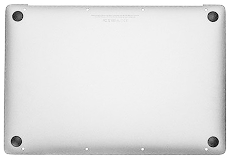 Bottom Case w/ Battery, Silver MacBook 12-inch Retina (Early 2016, Mid 2017)