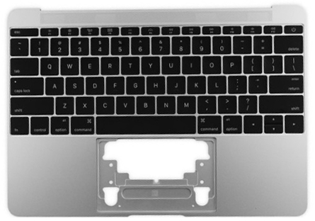 Top Case w/ Keyboard, Silver 661-04881
