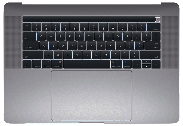 Top Case w/ Keyboard and Battery, Space Gray for MacBook Pro 15-inch (Late 2016, Mid 2017)