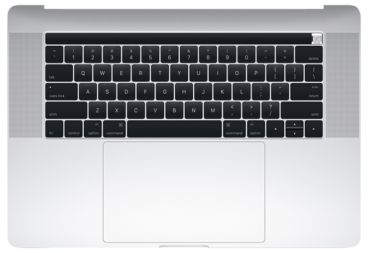 Top Case w/ Keyboard and Battery, Silver for MacBook Pro 15-inch (Late 2016, Mid 2017)