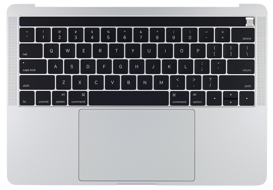 Top Case w/ Battery, Silver MacBook Pro 13-inch 4 TBT3 (Late 2016, Mid 2017)