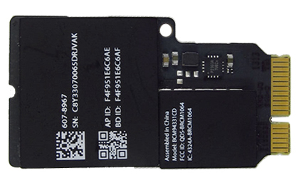 Wireless (Airport/Bluetooth) Card iMac 21.5-inch (Late 2013, Mid 2014), iMac 27-inch (Late 2013), iMac 27-inch Retina 5K (Late 2014, Mid 2015)