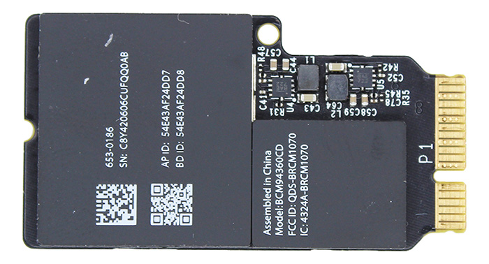 Wireless (Airport/Bluetooth) Card Mac Pro (Late 2013)
