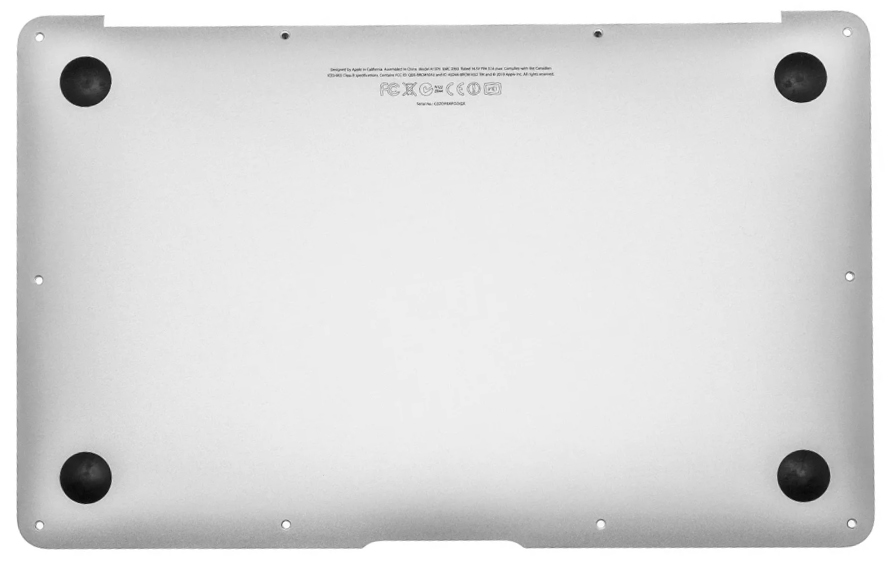Bottom Case / Housing for MacBook Air 11-inch, Early 2015 Model: A1465 Order: MJVM2LL/A, BTO/CTO Identifier: MacBookAir7,1 Release date: 9-Mar-15