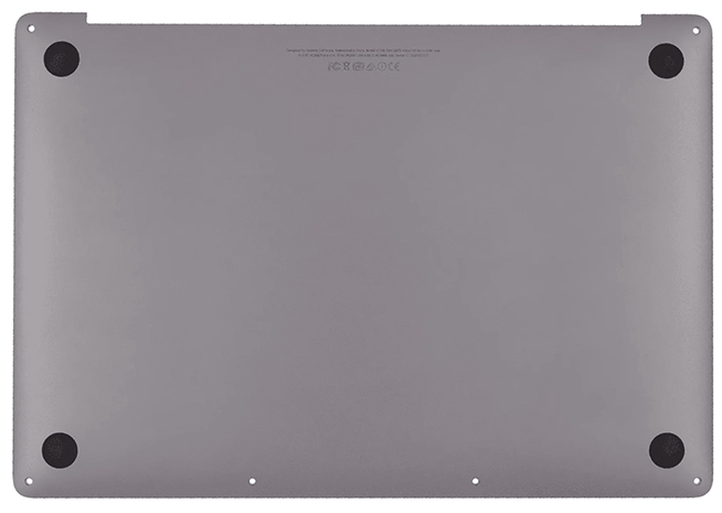 Bottom Case, Space Gray for MacBook Pro 13-inch, 2017, 4 TBT3 Model: A1706 Order: MPXV2LL/A, BTO/CTO Identifier: MacBookPro14,2 Release date: 5-Jun-17