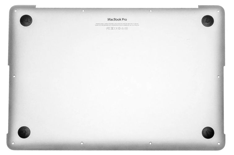 Bottom Case for MacBook Pro Retina, 13-inch, Mid 2014 Model: A1502 Order: MGX72LL/A, MGX92LL/A, MGXD2LL/A Identifier: MacBookPro11,1 Release date: 29-Jul-14