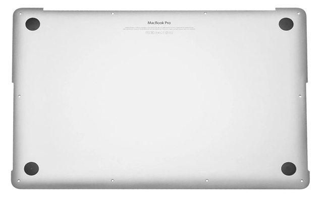 Bottom Case (Discrete Graphics) for MacBook Pro Retina, 15-inch, Late 2013 Model: A1398 Order: ME293LL/A, BTO/CTO, ME294LL/A, ME874LL/A Identifier: MacBookPro11,2, MacBookPro11,3 Release date: 22-Oct-13