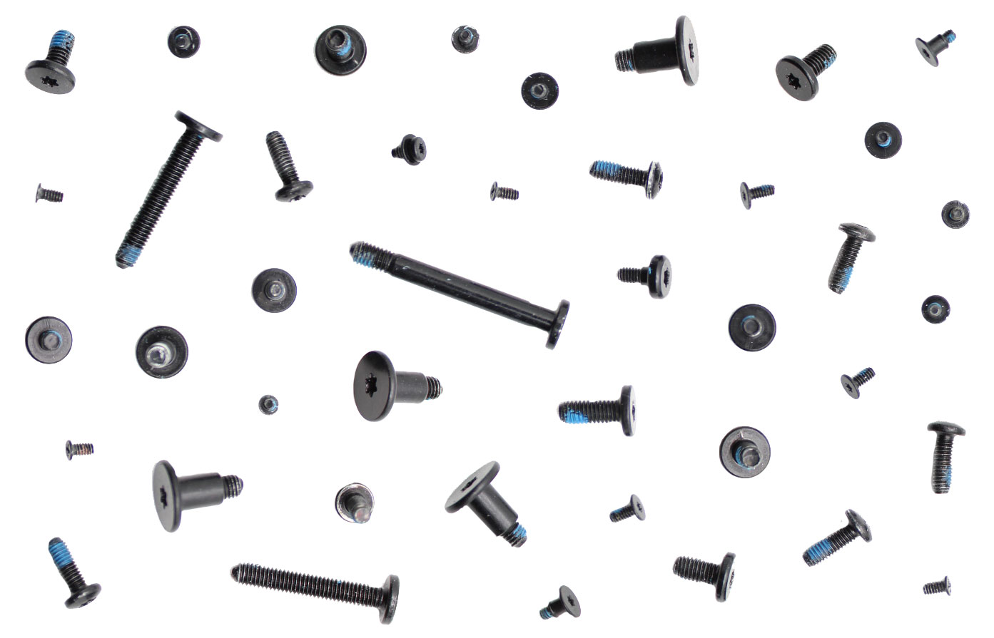 999-0013 - Screws / Screws Full Set/Kit, 40+ Pieces for iMac Retina 4K 21.5-inch 2017. Screw Location(s):