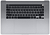 Top Case w/ Battery, ANSI, Space Gray for MacBook Pro 16-inch, 2019 Model: A2141 Order: MVVL2LL/A, MVVM2LL/A, BTO/CTO Identifier: MacBookPro16,1